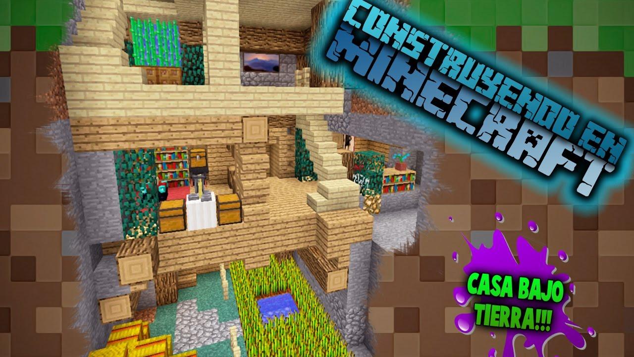 Como hacer una casa bajo tierra para survival en minecraft for Como hacer una casa clasica en minecraft