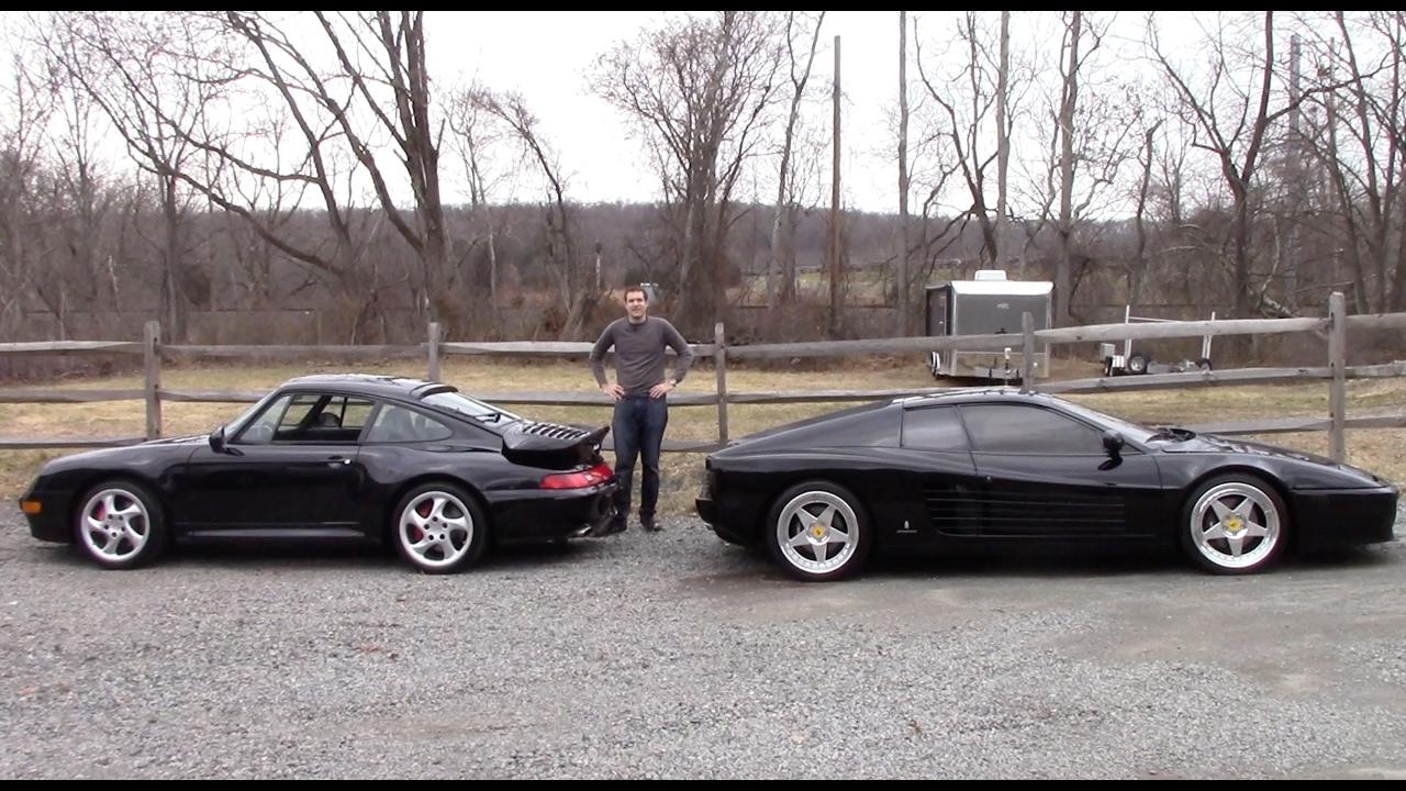 ferrari 512tr vs porsche 911 turbo 1990s battle youtube. Black Bedroom Furniture Sets. Home Design Ideas