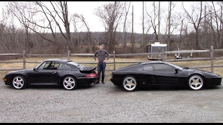 Ferrari 512TR vs. Porsche 911 Turbo: 1990s Battle!