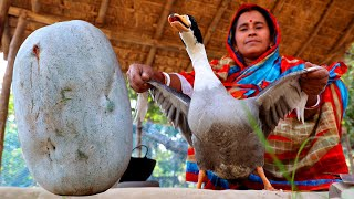 Chal Kumro & Duck Curry Cooking by my Mother | Assamese Traditional Duck Curry Recipe | Village Food
