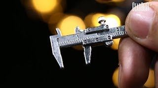 3D Special Simulation Model Slide Ruler Vernier Caliper Key Chain Keyring - GearBest.com