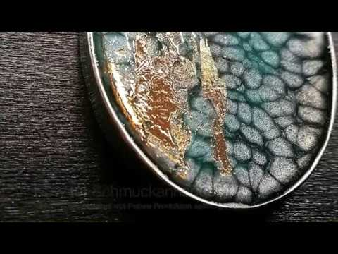 How To: Mixed Media Schmuck Tutorial mit Pebeo Fantasy Prisme & Goldfolie & Epoxidharz