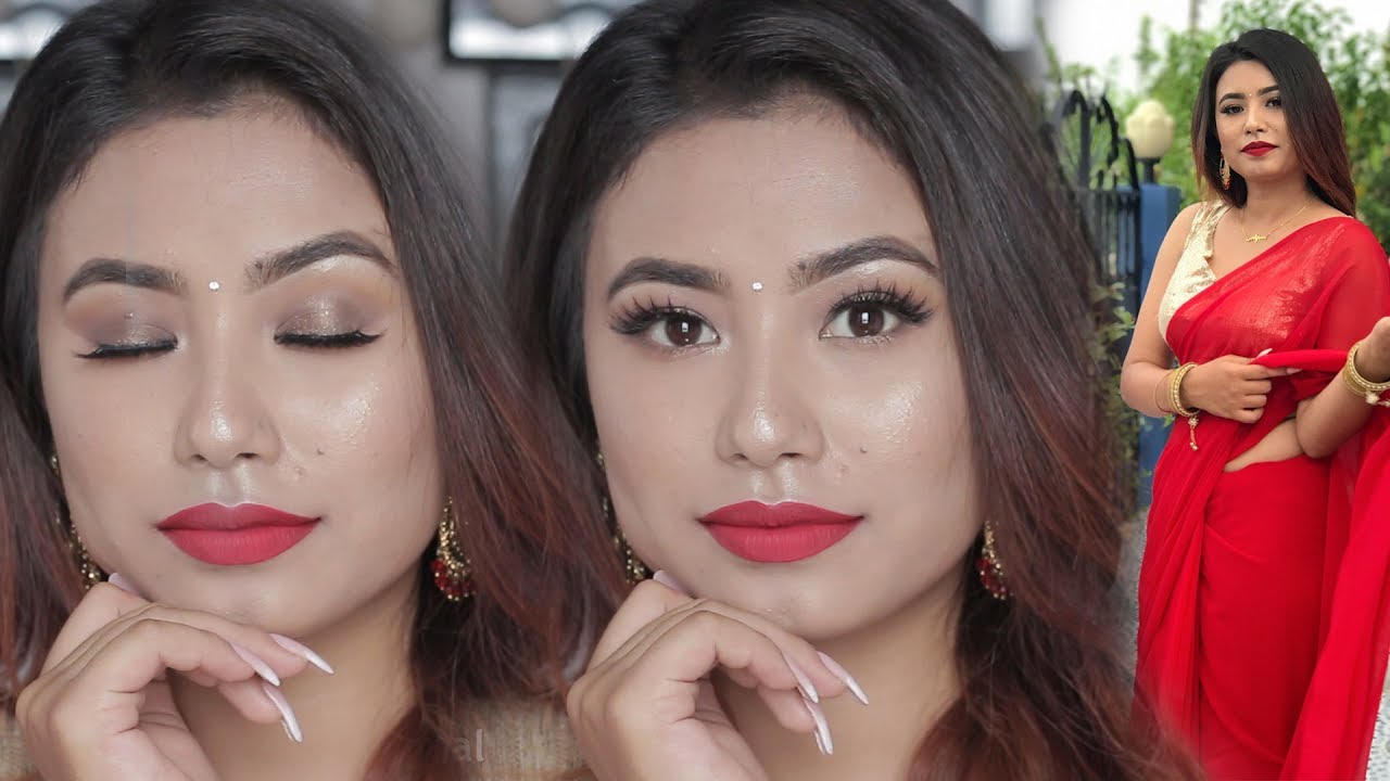 Nepali / Indian Easy RECEPTION Party Makeup Look 2017 | Beautynepal | - YouTube