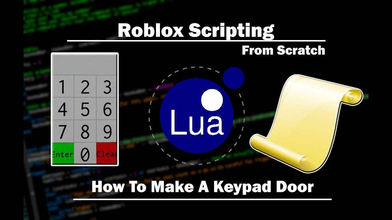 Roblox How To Make A Keypad Door Youtube