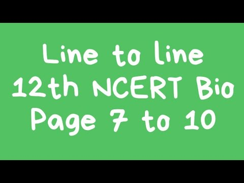 #2 line to line NCERT 12th bio chapter 1 (page no. 8 9 10)  bio in hindi thumbnail