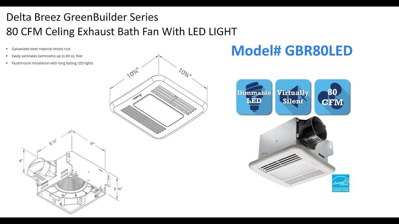 bathroom exhaust fan installation delta breeze greenbuilder [ 1280 x 720 Pixel ]