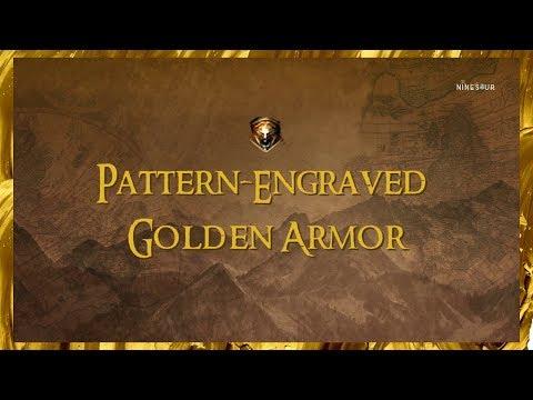 BLACK DESERT ONLINE Pattern-Engraved Golden Armor CRAFTABLE COSTUME