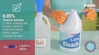 Mixing chlorine disinfectant solution