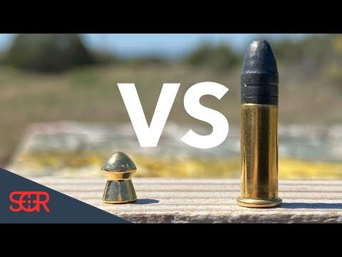 22LR VS 22 Airgun - POWER TEST!