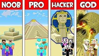 Minecraft NOOB vs PRO vs HACKER vs GOD : FAMILY SAND BASE in Minecraft! Animation
