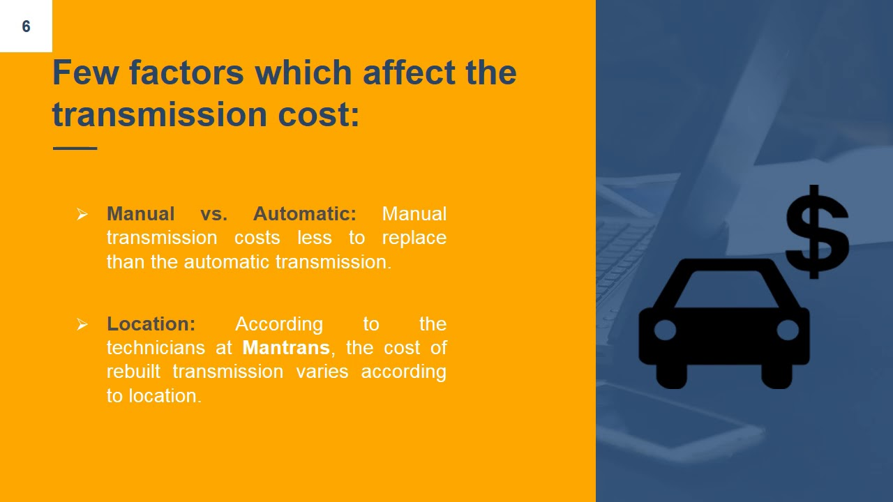 How Much Does It Cost To Replace A Transmission >> How Much Does Transmission Repair Cost