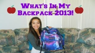 What's in my Backpack 2013! Thumbnail