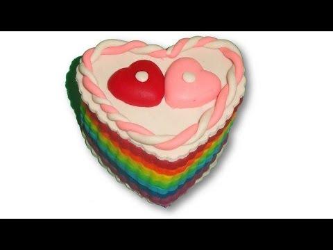 Valentine Special Play Doh Rainbow Cake