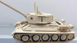Зроби сам 3D дерев'яний корабель конструктор танка Т-34