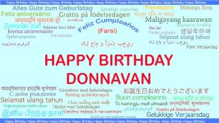 Donnavan   Languages Idiomas - Happy Birthday