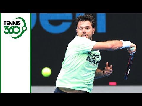 Novak Djokovic and Stan Wawrinka practice ahead of 2018 Australian Open