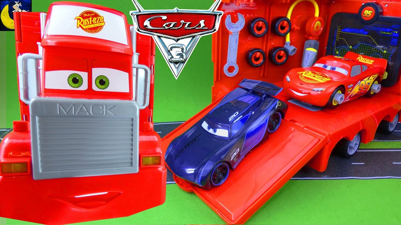 small resolution of mack mobile tool center take apart lightning mcqueen race car jackson storm
