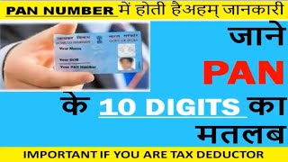 Know your PAN, Secret of PAN number, PAN NUMBER 10 digits explained, PAN digits meaning, PAN CARD