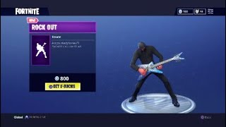 "NEW ""ROCK OUT "" EMOTE - Fortnite Battle Royale"