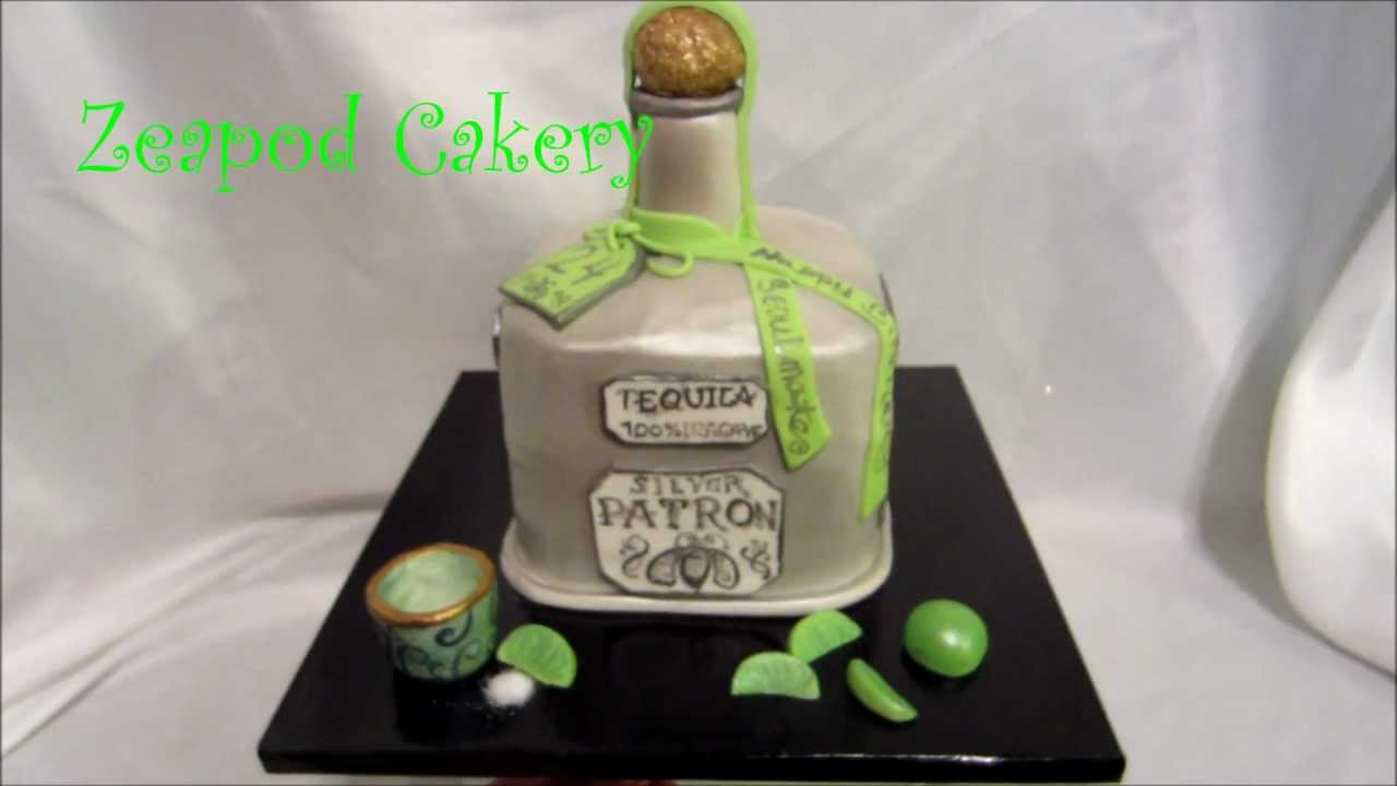Bottle Of Gin Cake