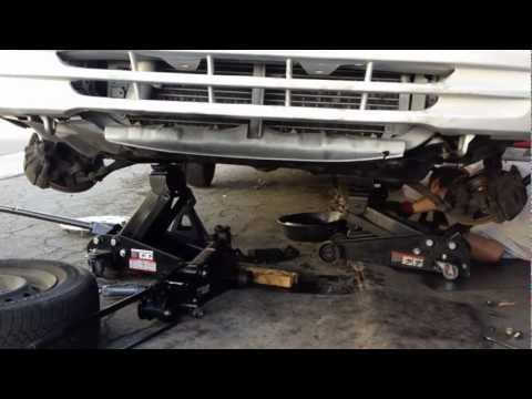 1999 toyota camry Automatic transmission removal heads up
