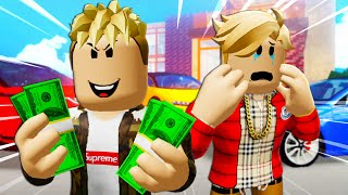 He Scammed His Famous Brother! A Roblox Movie (Story)