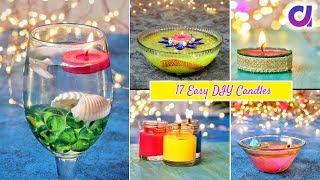 17 Easy and Beautiful DIY Candles for Diwali | Room Decor | Artkala