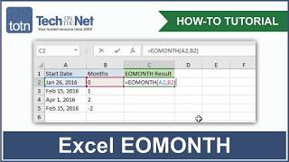 How to use the EOMONTH function in Excel