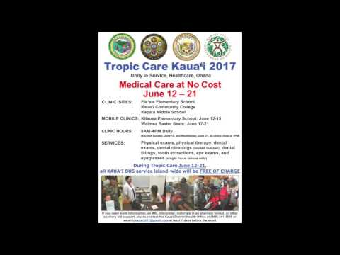 Tropic Care Kauai, Health care, no fee