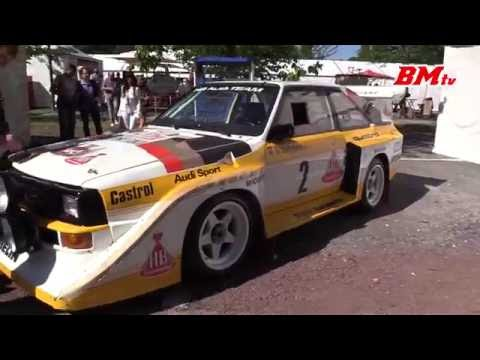 Audi Sport Quattro S1 with Walter Röhrl (incl idle and revving)