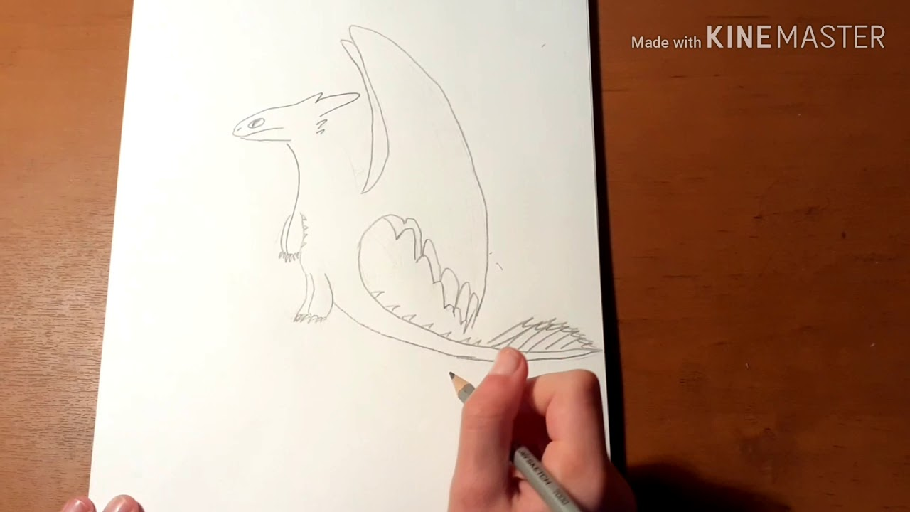 """Как нарисовать Беззубика из мультфильма """"Как Приручить ..."""