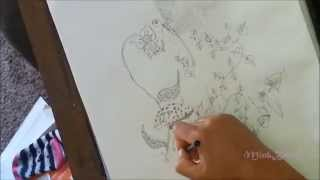 Tutorial || Drawing A Coloring Book Page ||