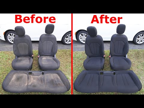 How To Super Clean Cloth and Leather Seats