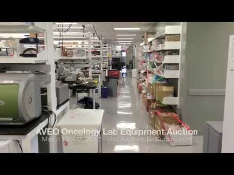 Sale of R&D Equipment from the Labs of AVEO Oncology in Cambridge, MA