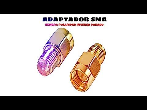 Video de Adaptador SMA hembra de polaridad inversa  Dorado