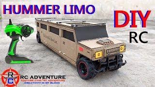 Cardboard Hummer Car || How to Make RC Hummer Limousine || Hummer Limo || DIY Hummer At Home
