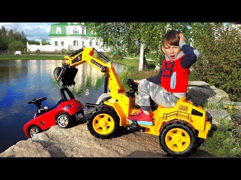 Сеня на Тракторе помогает Маленькой Машинке