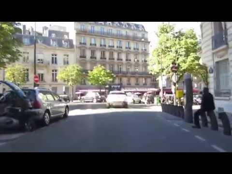 Cycling in Paris: Rue Arsène Houssaye _ Av Hoche _ Boulevard de Courcelles