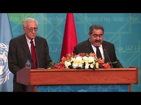 Iraq pushes for Syria progress in Brahimi talks