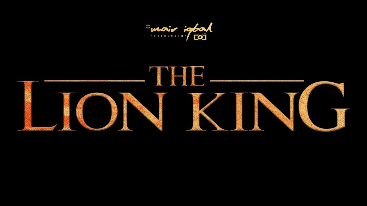 How To Create The Lion King Movie Title Adobe Photoshop Cc Tutorial