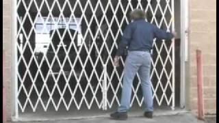Folding Security Gates, Scissor Gate 800-763-9020
