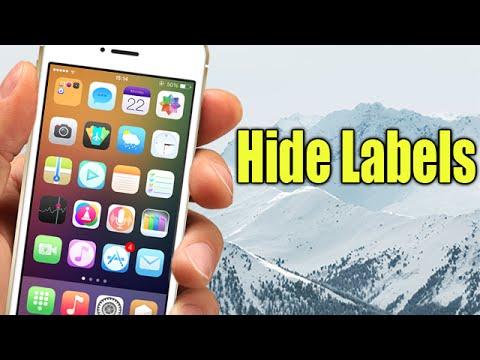 Hide Labels - Cydia Tweak