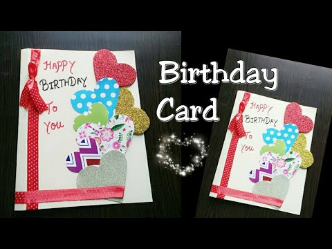 Diy Birthday Card For Boyfriend Girlfriend Easy Card Making For