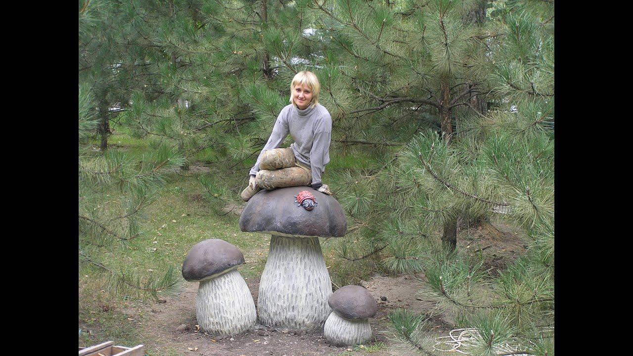 раскраска бетонных скульптур черепаха ,гриб, указатель для ...