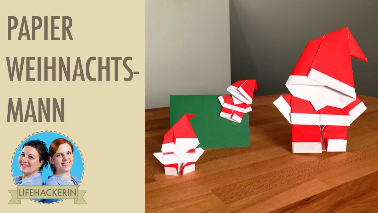 weihnachtsmann aus papier falten papier samichlaus. Black Bedroom Furniture Sets. Home Design Ideas