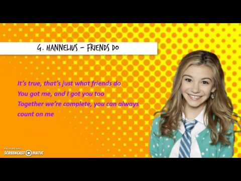 """G. Hannelius - Friends Do (from """"Dog With a Blog"""")  [Lyrics Video]"""