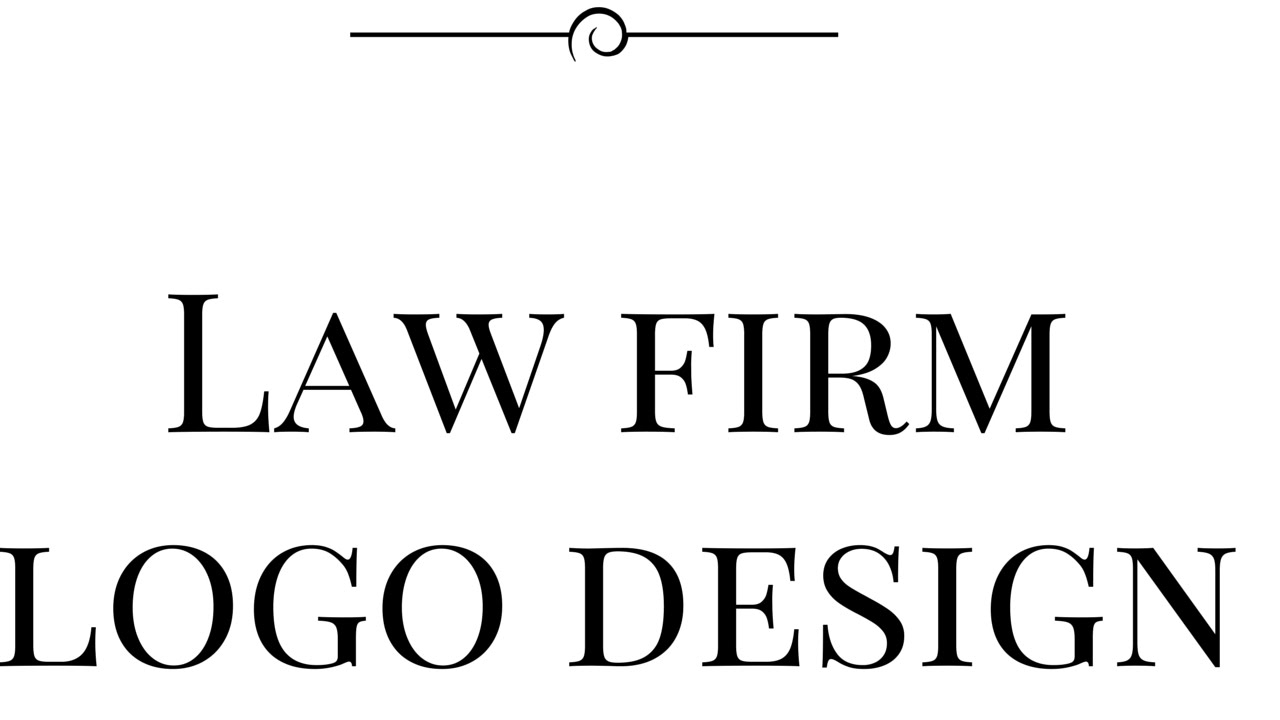 professional law firm logo design youtube