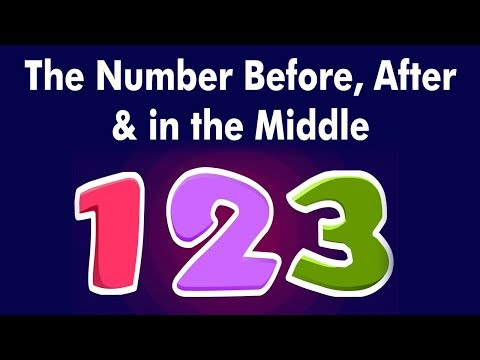 The Number Before After & in the Middle