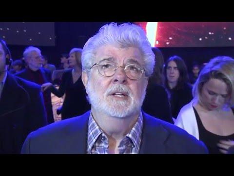 Star Wars The Force Awakens European Premiere Interview - George Lucas