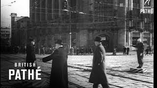 Dignitaries Walk Streets To Tokyo (1945)